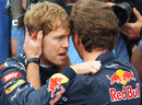 Christian Horner congratulates Sebastian Vettel on his third world title