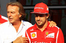 Luca di Montezemolo and Fernando Alonso in the paddock