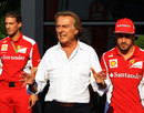 Luca di Montezemolo addresses the Monza paddock