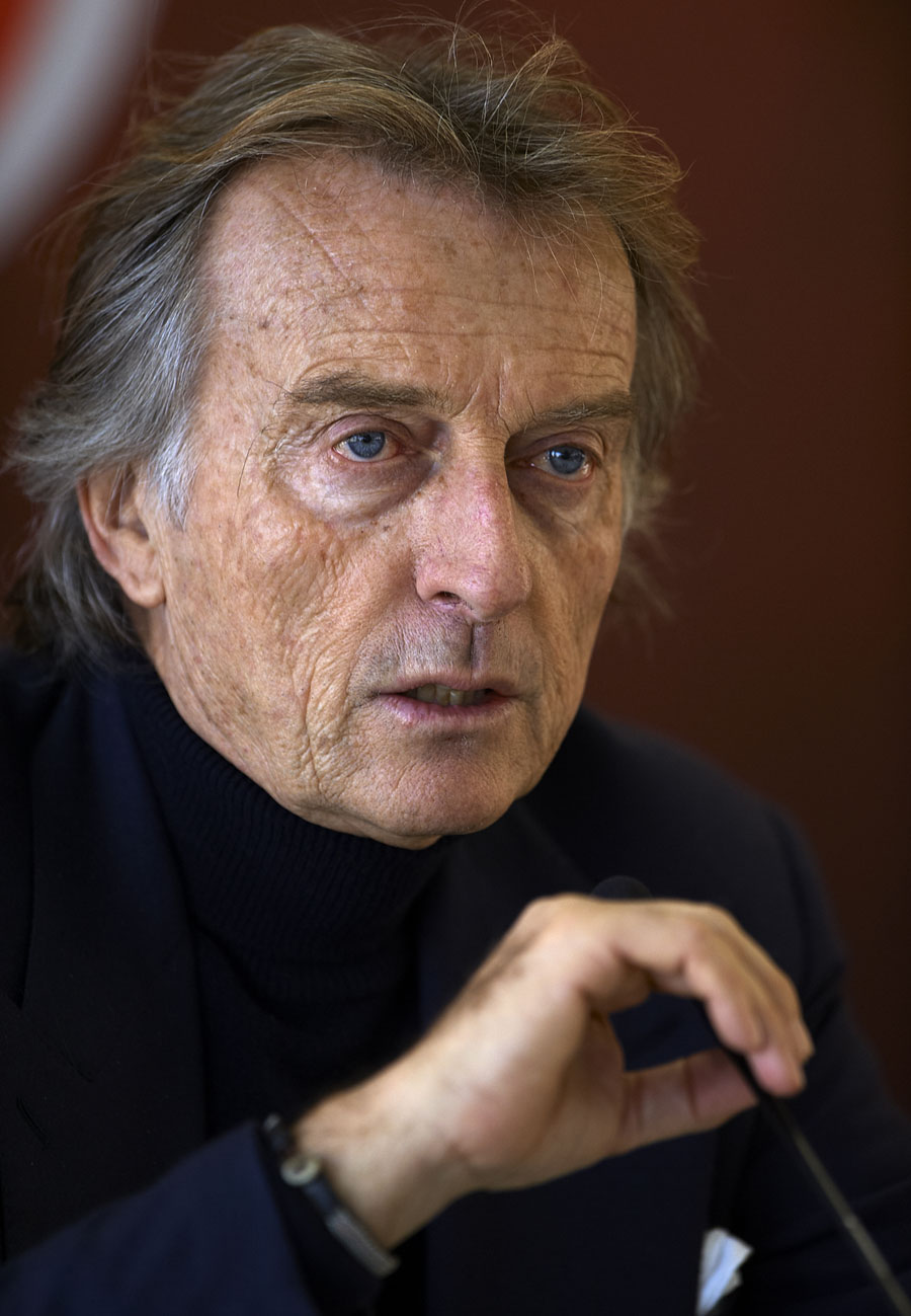 Luca di Montezemolo talks to the press