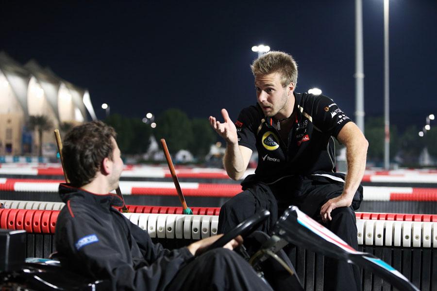 Davide Valsecchi gives ESPNF1 assistant editor Chris Medland some karting tips