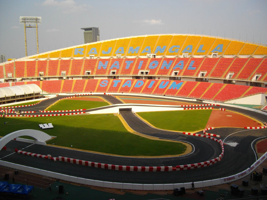 The Rajamangala National Stadium ahead of the Race of Champions
