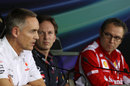 Martin Whitmarsh speaks during the Friday press conference