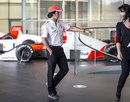 Sergio Perez at McLaren's headquarters on his first day at the team