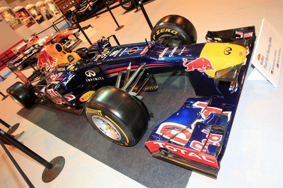 Red Bull's championship-winning RB8 on display at the Autosport show