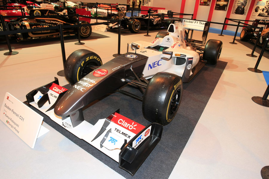 Sauber's C31 on display