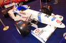 A Stewart SF1 on display at the Autosport Show