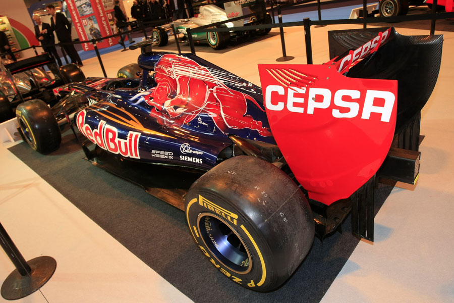 Toro Rosso's STR7 on display