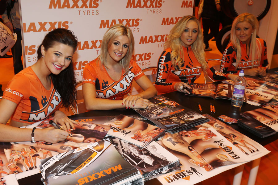 Girls at the Autosport show