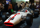 A 1967 Honda RA300 on display during the Tokyo Auto Salon 2013 exhibition