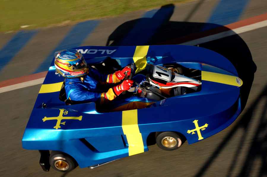 Fernando Alonso's kart at Felipe Massa's karting challenge