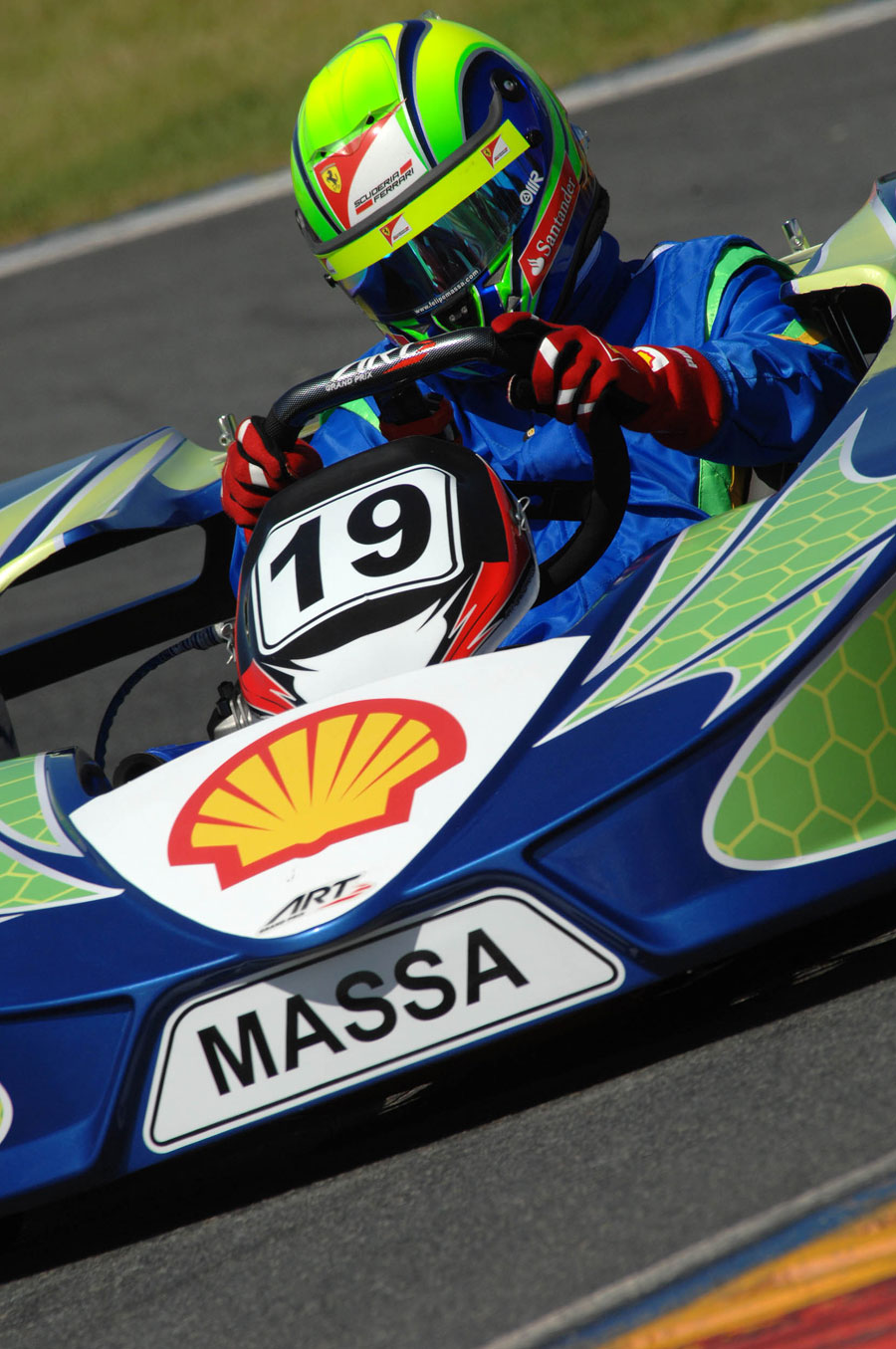 Felipe Massa during his karting challenge