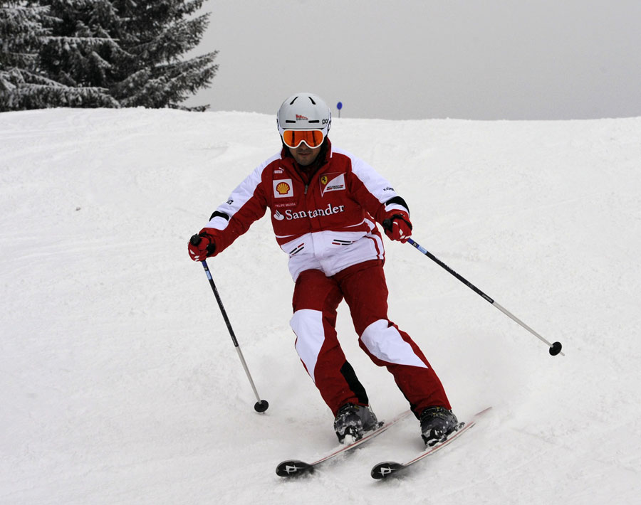 Felipe Massa takes to the slopes at Ferrari's Wrooom event