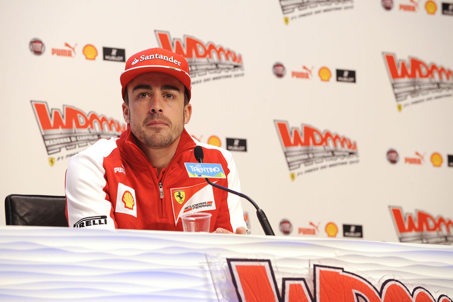 Fernando Alonso faces the media on Thursday morning