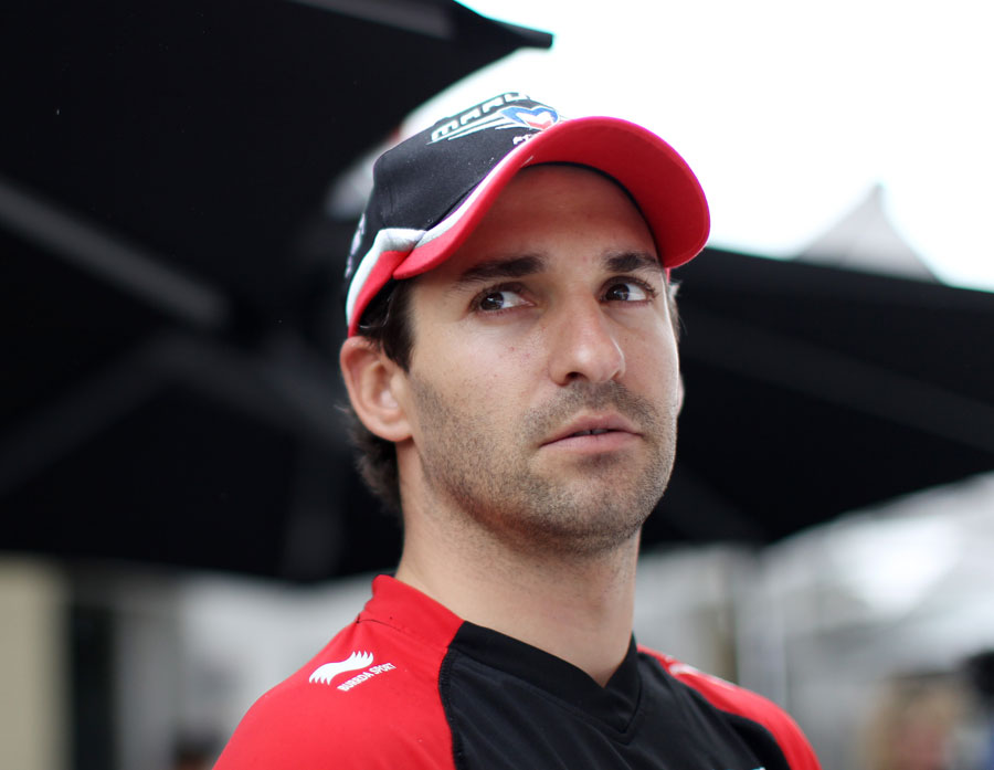 Timo Glock in the paddock