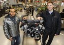 Lewis Hamilton visits the AMG engine production line