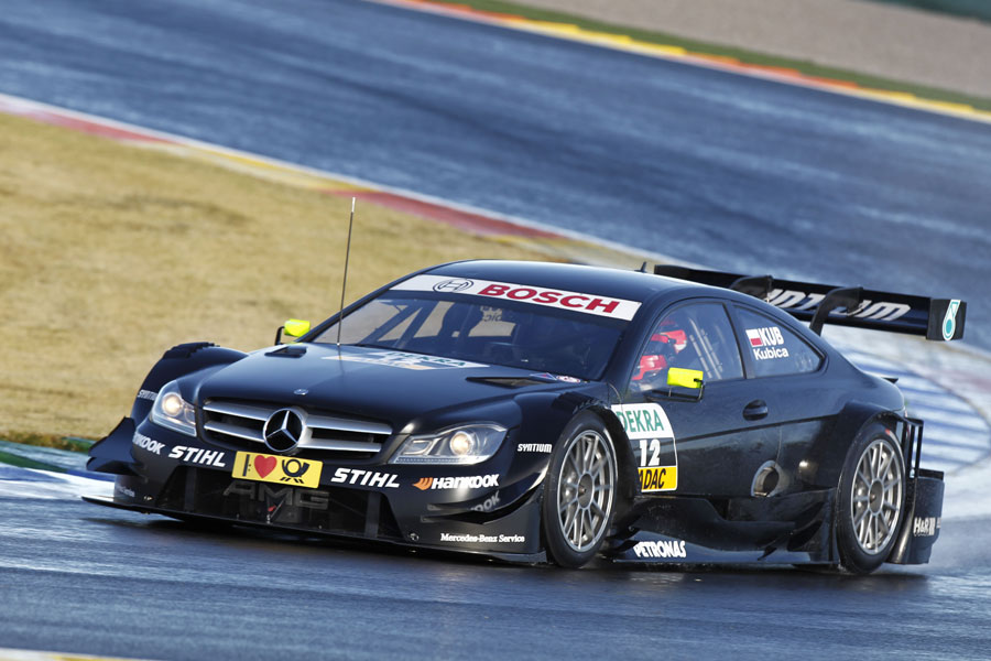 Robert Kubica tests a Mercedes DTM car