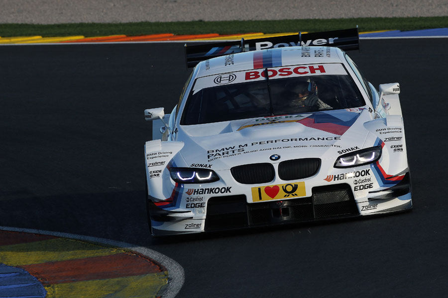 Timo Glock on track during his first DTM test with BMW