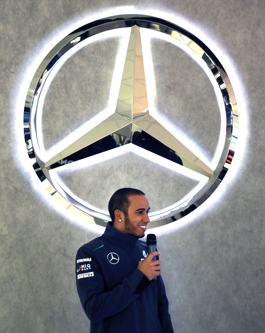 Lewis Hamilton addresses Mercedes factory workers