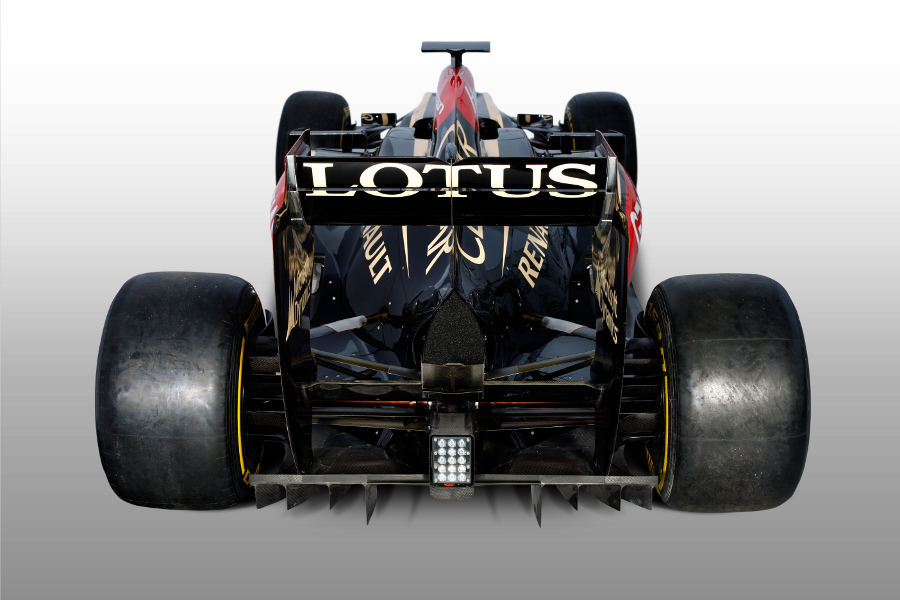 The rear of the new Lotus E21
