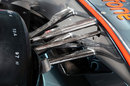 Front suspension detail on the new McLaren MP4-28