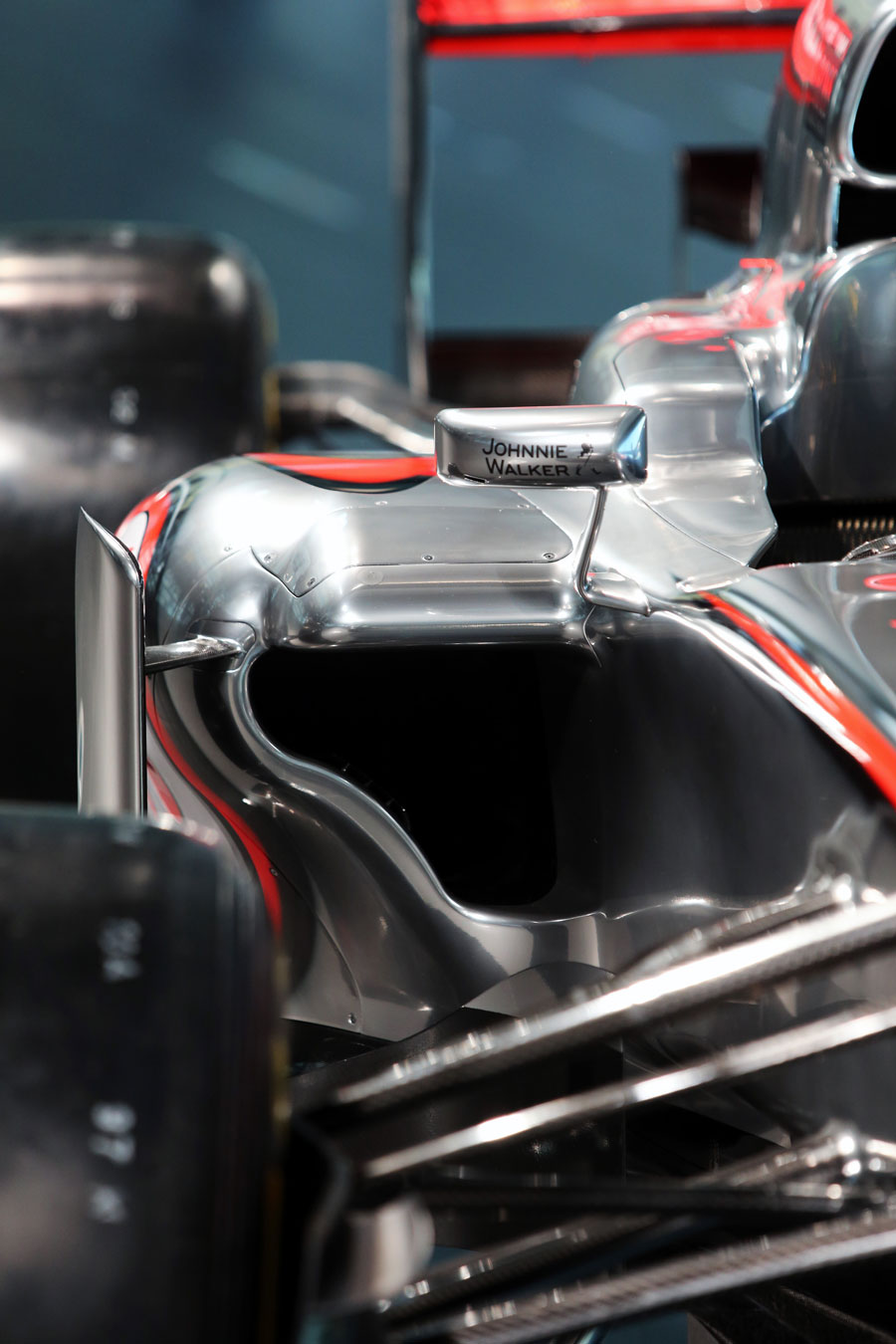 Sidepod detail on the new McLaren MP4-28