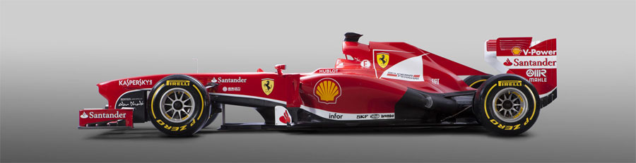 The new Ferrari F138 from the side