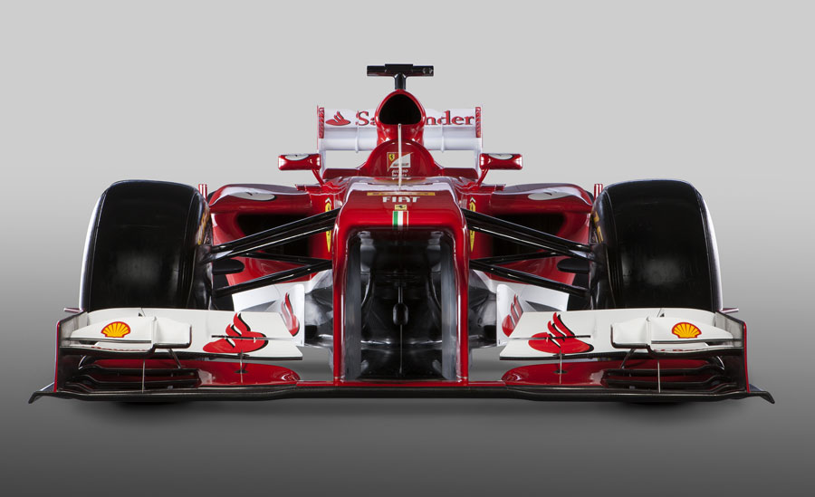 The new Ferrari F138 head on