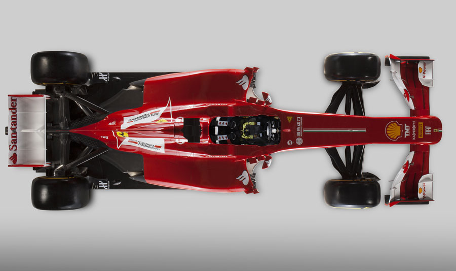 The new Ferrari F138 from above