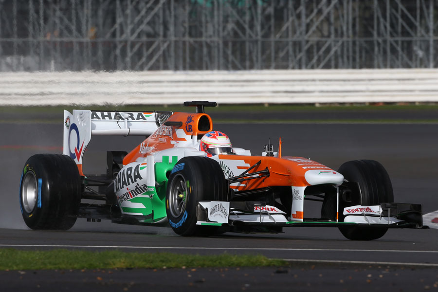 Paul di Resta puts the first few miles on the Force India VJM06