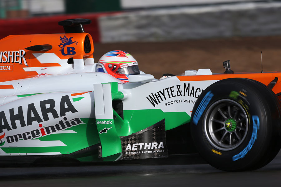 Paul di Resta in the cockpit of the Force India VJM06