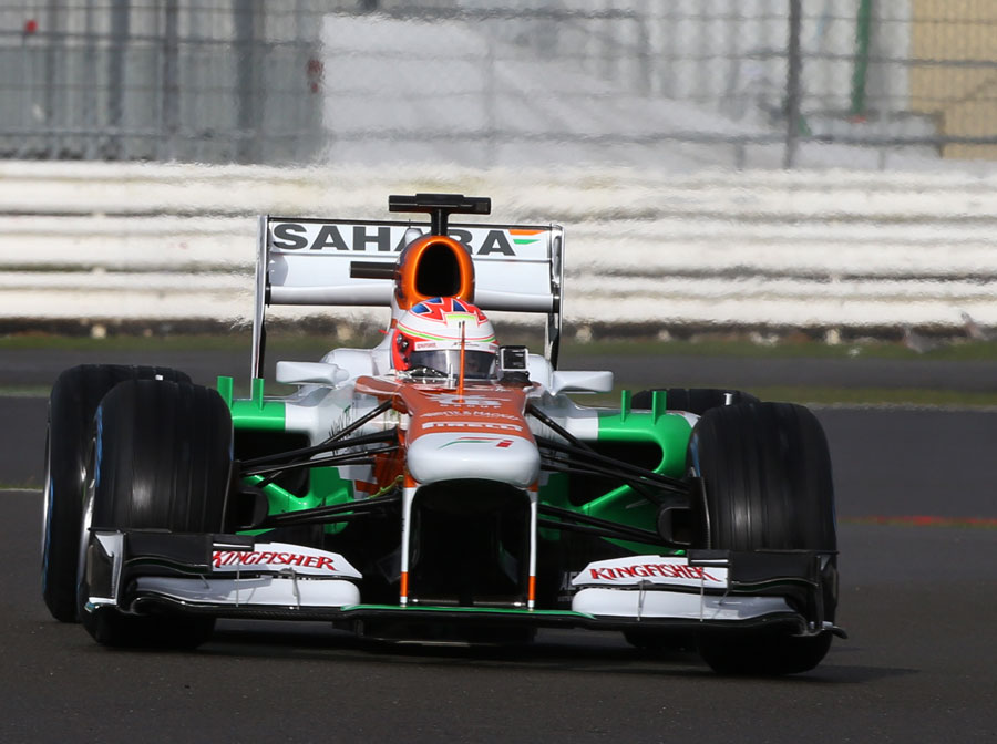 Paul di Resta on track in the Force India VJM06