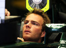 Giedo van der Garde in the cockpit of the Caterham