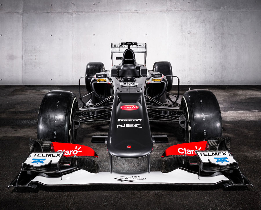 The new Sauber C32 head-on