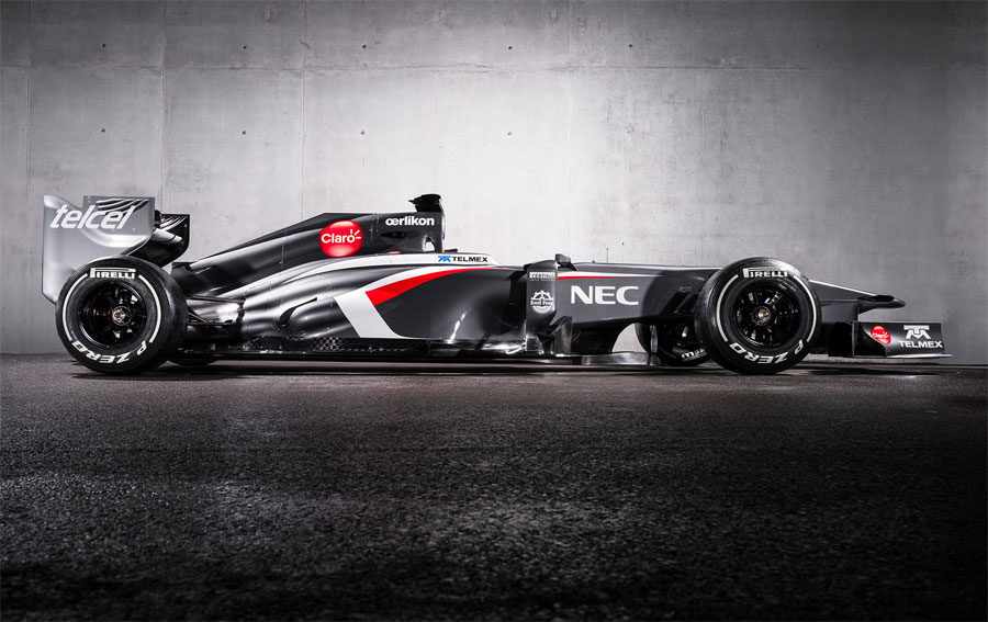 The new Sauber C32 from the side