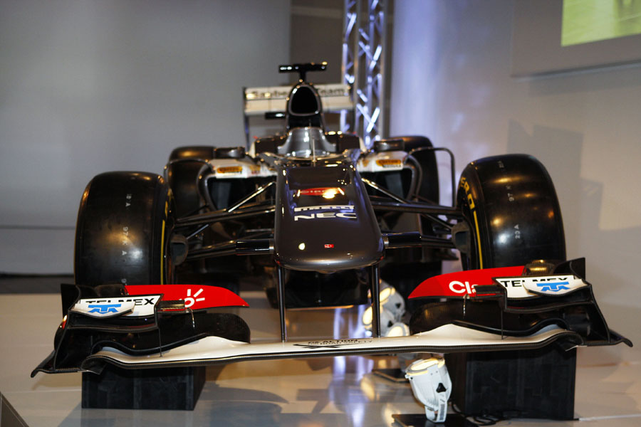 An head-on view of the new Sauber C32