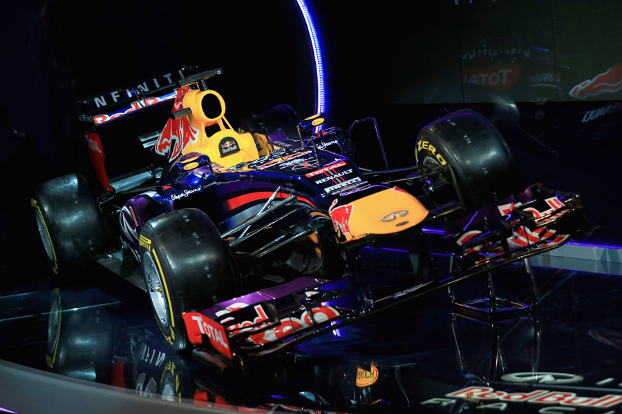 The Red Bull RB9 on display at its launch