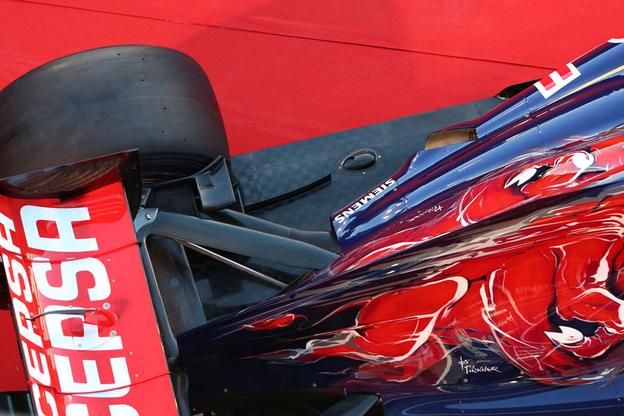 Rear end detail on the new Toro Rosso STR8