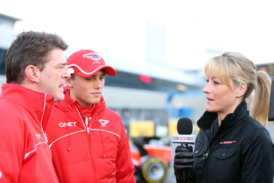 Max Chilton and Graeme Lowdon talk to Rachel Brooks