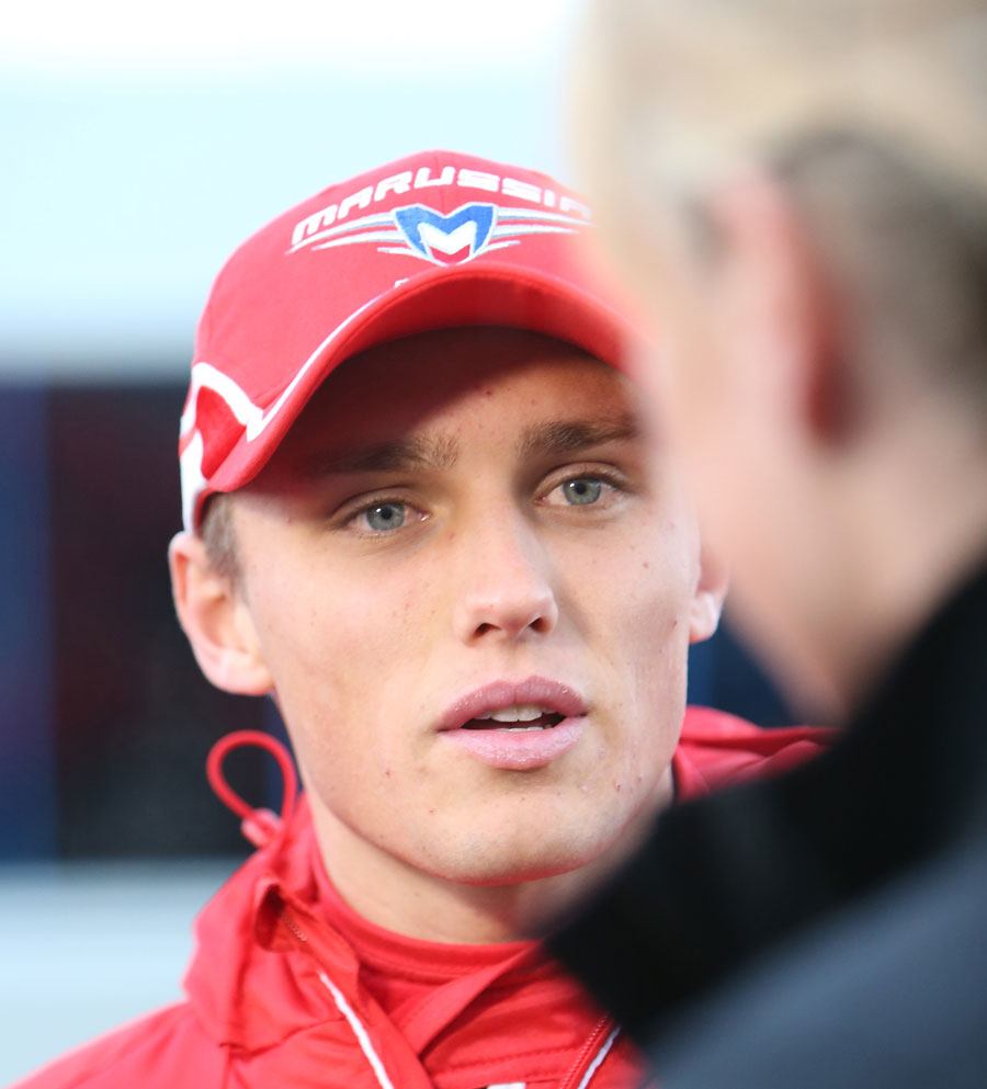 Max Chilton faces the media