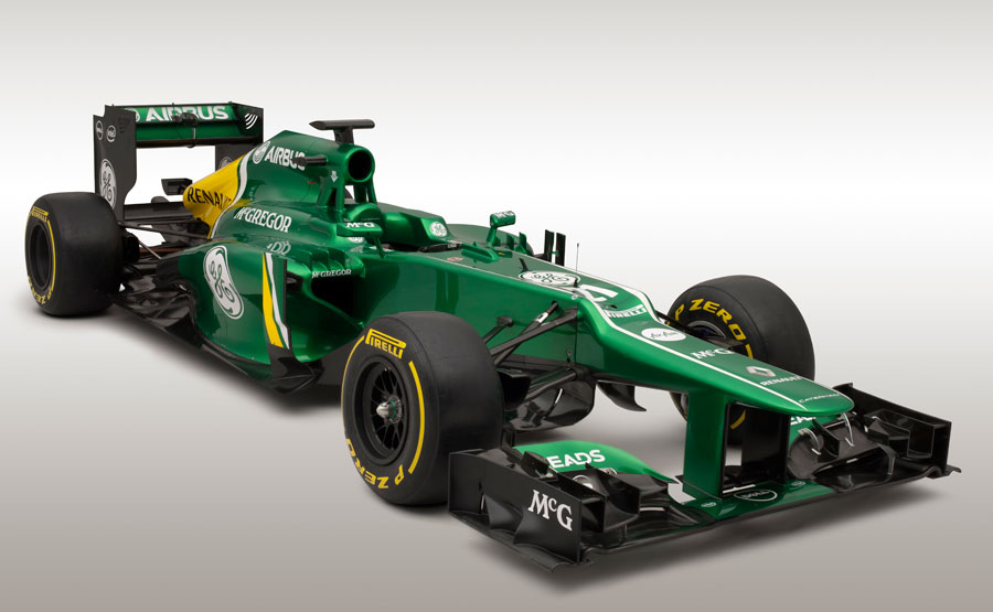 The covers come off the 2013 Caterham