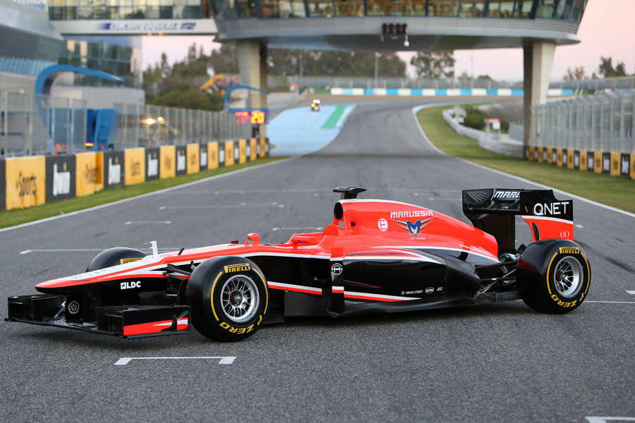 The covers come off the 2013 Marussia