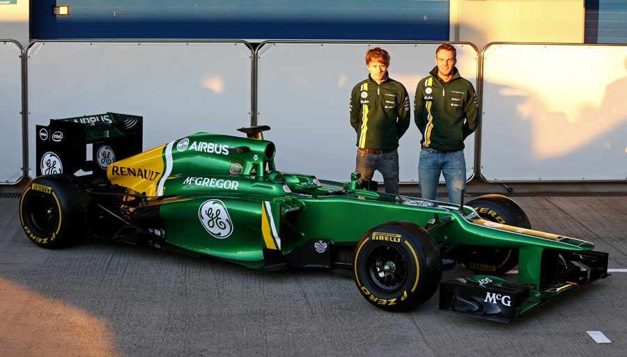 Giedo van der Garde and Charles Pic launch the new Caterham CT03