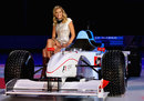 Race ambassador Chelsea Scanlan poses during the 2013 Formula One Australian Grand Prix launch