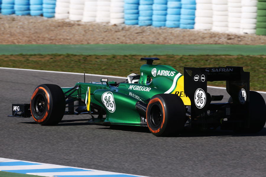 Giedo van der Garde gets the power down in the CT03