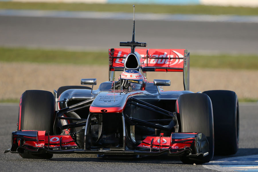 Jenson Button aims for an apex in the MP4-28