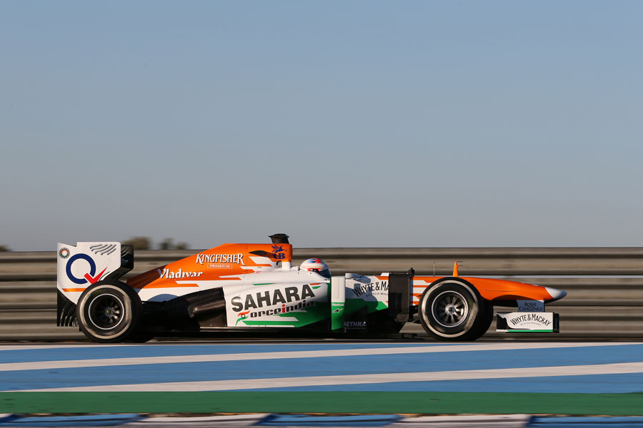 Paul di Resta leaves the pit lane