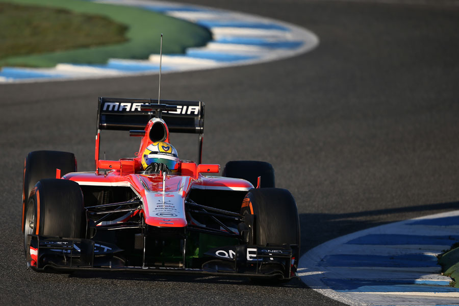 Luiz Razia tackles the chicane on his Marussia debut