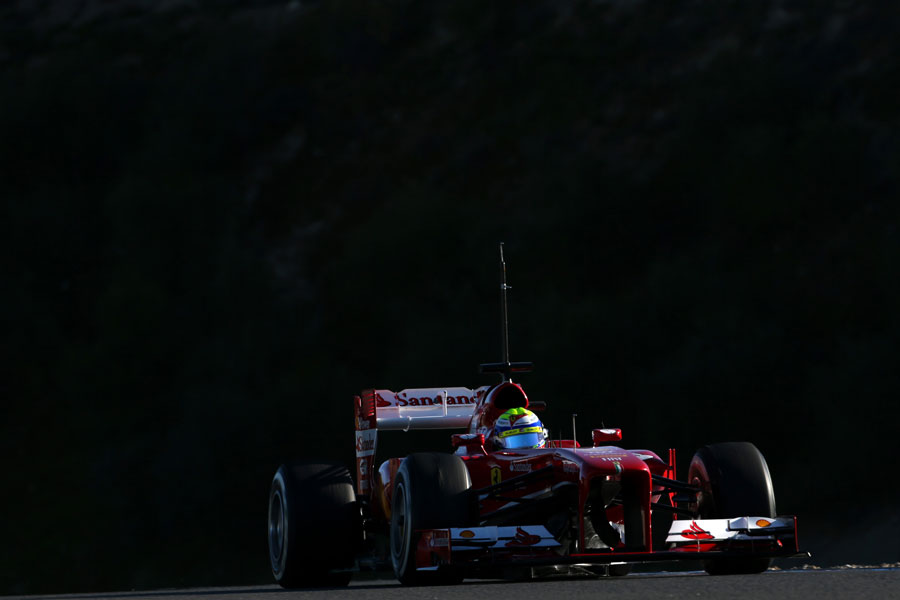 Felipe Massa on track in the Ferrari F138