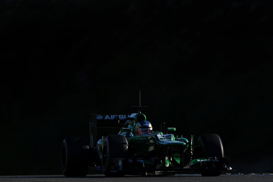 Charles Pic on track during his first day in the CT01